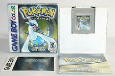 Pokemon Silver GBC Complete In Box CIB AUTHENTIC Good Condition w/ New Battery!
