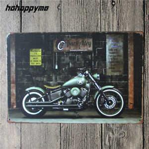 NEW Vintage Motorcycle metal plaque - Retro tin sign for Garage, Bar, Cafe, Pub