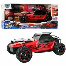 Battle Machines RC Remote Control Battle Buggy w/ Rapid Fire Disc Launcher