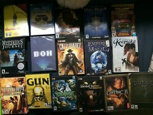 Lot of 34 PC Boxed Video Games - Detective, Adventure, Multiple Genres