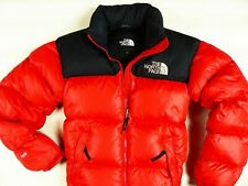 MEN'S RED THE NORTH FACE 700 NUPTSE 1996 FULL ZIP DOWN PUFFA JACKET SIZE:X-SMALL