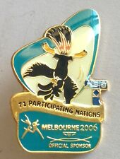 Participating Nations Melbourne 2002 Commonwealth Pin Badge Rare Gymnastics (F2)