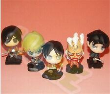 5pcs Anime Attack on Titan Levi·Ackerman PVC Figure Model 5cm