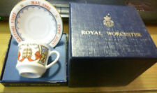 Saucer Boxed Decorative Royal Worcester Porcelain & China