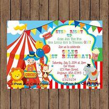 Circus Birthday Invitation / Circus Baby Shower Invite / Printable