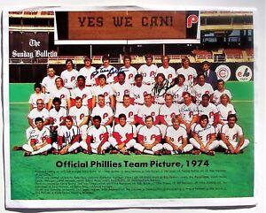 1974 PHILADELPHIA PHILLIES Official Team Picture 7 SIGNATURES - Carlton, Schmidt