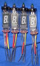 Four NOS NEC LD8051 Seven Segment Vacuum Fluorescent Display Tubes Nixie Clock