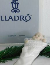 Lladro #5839 Baby's First 1st Christmas 1991 Stocking Ornament In Box w/ Papers