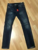 Mens Diesel BUSTER STRETCH Denim 0853R DARK BLUE R/Slim W31 L34 H6.5 WORN