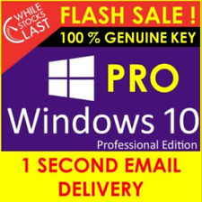 🌟WINDOWS10 PRO KEY PROFESSIONAL 32/64 BIT Real license🔑activation