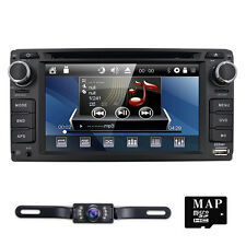 """6.2"""" HD 2 Din Car DVD Player GPS Navigation Bluetooth for Toyota Universal WD64"""