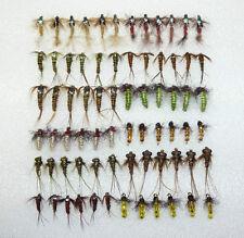 72 Artflies Nymph Assort. Swimming, Clinger. Bead Thorax. Czech Nymph,Larva, N72
