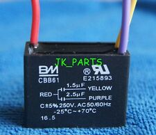 New BM CBB61 1.5uF+2.5uF 3 WIRE Ceiling Fan Capacitor UL CERTIFIED
