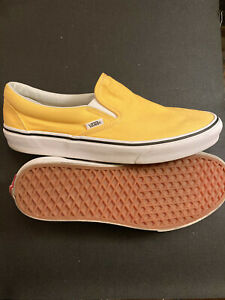 VANS Off the Wall Unisex Slip-On Yellow Canvas Shoes US Sz: {Men 9   Women10.5}