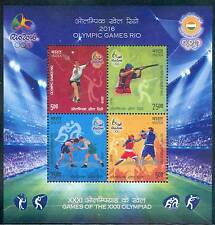 India 2016 Games of XXXI Olympiad MINIATURE SHEET MNH RIO OLYMPICS 5 nos