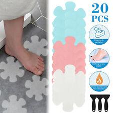 Bathtub Treads Flower Stickers Applique Mat Adhesive Non-slip Safety w/Scraper