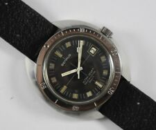 Vintage Benrus Ultra-Deep 666ft Selfwinding Diver Style Mens Wrist Watch LOT#14