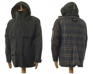 Mens BARBOUR Coldstream Jacket Shell Windbreaker Hunting Green Size XL