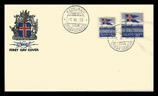 Iceland 1958 FDC, 40th Anniversary of the Icelandic Flag. Lot # 1.