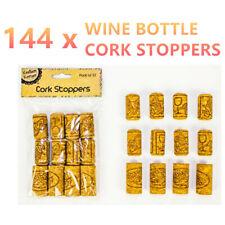 12pk Cork Stoppers Assorted Wine Bottle Lid Cap Stopper Plug Art CRAFT Wood DIY