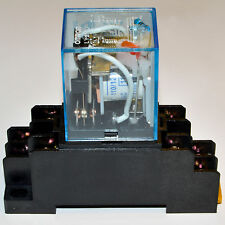 (10 PCs) NEW 10A Omron LY2N-J Cube Relays 24VAC Coil with PTF08A Socket Base