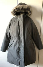 The North Face Womens Gray HyVent Goose Down Hood Coat Parka Jacket Size XL