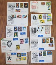 Lot 10x TEN Ghana 1959 1960 1961 FDC First Day Cover Collection Definitive Nice