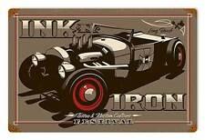 Ink n Iron Long Beach Festival Rat Hot Rod Tattoo Retro Sign Blechschild Schild
