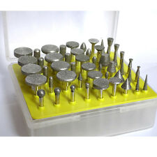50 Diamond coated rotary grinding points jewelry lapidary burr burs GRIT 80