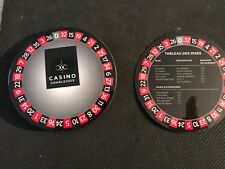 CHARLEVOIX GAMING CASINO- ROULETTE WHEEL NUMBERS LAMINATED COASTERS-NEW- 10 PACK