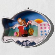 Hallmark 2018 ~ Cookie Cutter Christmas Ice Fishing Mouse Ornament