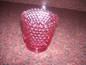 SHOT GLASS HOBNAIL PINK