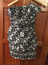 NWT A.B.S. Collection Allen Schwartz Women's SZ 2 Strapless Black & White Dress