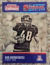 2016 Contenders Draft Picks ROB GRONKOWSKI 22 old school colors Arizona Wildcats