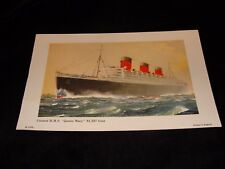 Vintage Cunard/Queen Mary Ocean Liner Lithographs - Printed in England