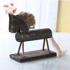 Natural Creative Gift Desk Decoration Pony Animal Figurines Ornament  Wood Horse