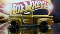 Hot Wheels 1949 Ford F-100 Gold Color White Side Stripes Black Interior