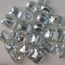 blue Asscher Cut Loose Moissanite 4 ring/pendant 2.52 Ct 8.71 x 7.44 Mm Vs1 ice
