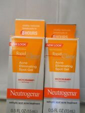 Neutrogena RAPID CLEAR Acne Eliminating SPOT GEL .5 oz each (2pk) exp 2020