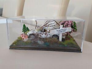 1:43 Scale Diecast White Triumph TR4 A Dumped Barn Find Abandoned Diorama Scene