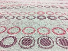 TOP QUALITY PINK PURPLE SPOTS CIRCLES UPHOLSTERY JACQUARD FABRIC MATERIAL SALE!