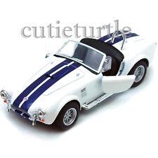 Kinsmart 1965 Shelby Cobra 427 SC 1:32 Diecast Toy Car White With Blue Stripes