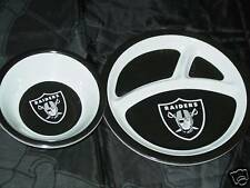 NFL 2 Piece Kids Dinner Set, Oakland Raiders, NEW