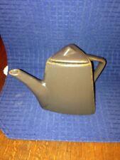Small teapot microwave & dishwasher safe brown ceramic triangle shape design