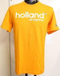 HOLLAND S/S ORANGE GRAPHIC TEE SHIRT BY ADIDAS SIZE MEN'S MEDIUM BRAND NEW