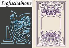 Schablone, Jugendstilornament, Wandschablone, Malerschablone - Jugendstil, Decke
