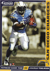 LADAINIAN TOMLINSON SAN DIEGO CHARGERS TCU HORNED FROGS FATHEAD TRADEABLES 2008