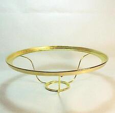 """Solid Brass Lamp Shade Ring Holder 10"""" for Aladdin Under Burner Kerosene Oil"""