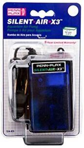Penn Plax Silent-Air X3 Air Pump SA-X3 Up to 30 Gallons Air Pump Aquarium