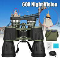 ☆Day/Night 60x50 Military Army Zoom Binoculars HD Optics Hunting Camping +  A